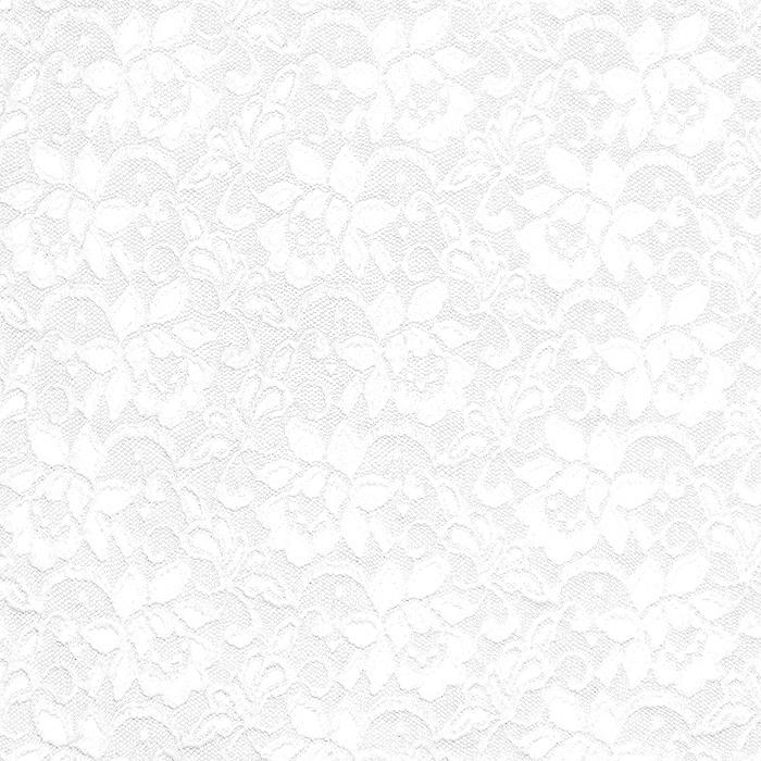 Čipka, elastična, cvjetni, 20083-050, bijela