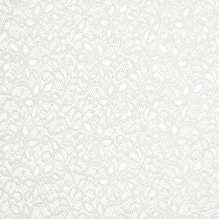 Čipka, elastična, cvetlični, 20083-051, smetana