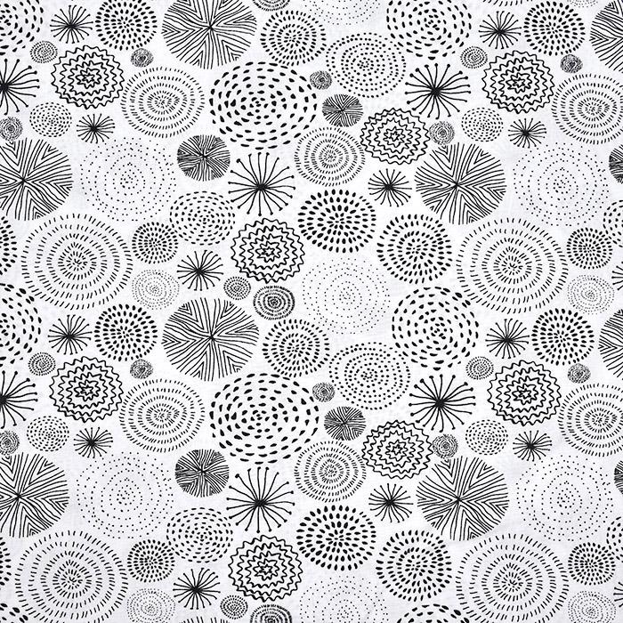 Bombaž, poplin, krogi, 20094-050, bela