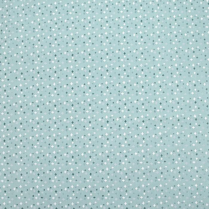 Pamuk, popelin, geometrijski, 20089-021, mint
