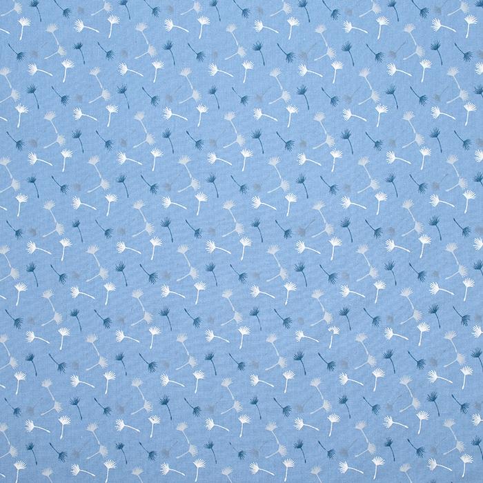 Bombaž, poplin, narava, 20090-003, modra
