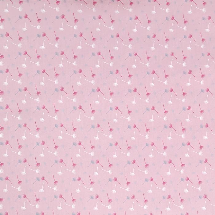 Bombaž, poplin, narava, 20090-011, roza