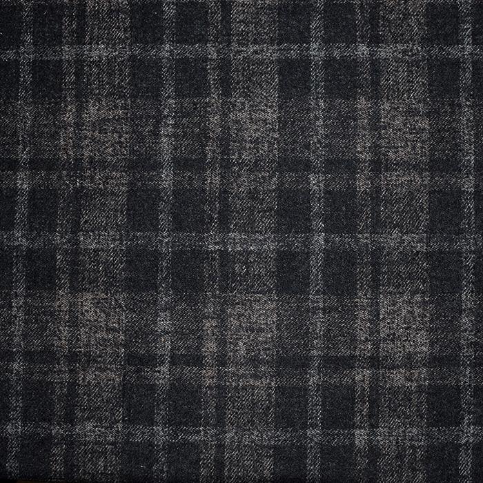 Vuna za kapute, kare, 20136-60, crno-smeđa