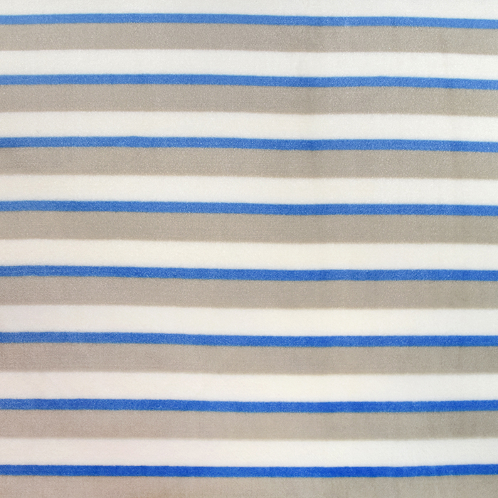 Velours, Coral, beidseitig, Streifen, 20170-5, blau