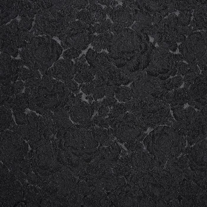 Žakard, obojestranski, cvetlični, 20130-4, črna