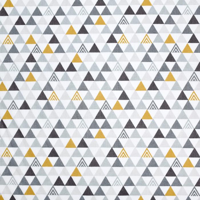 Pamuk, popelin, geometrijski, 20196-1, bijela