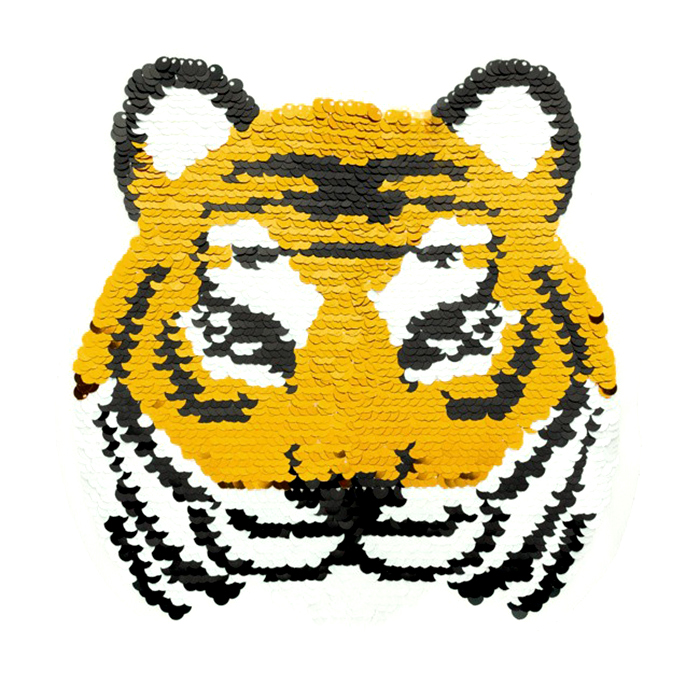 Aufnäher, Pailletten, 19975-32212, Tiger