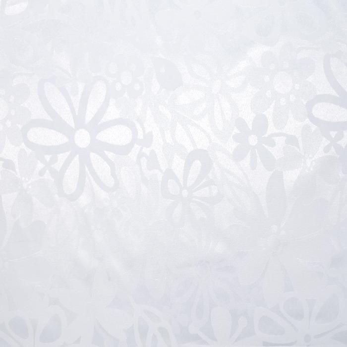 Damast, cvetlični, 20213-3, bela