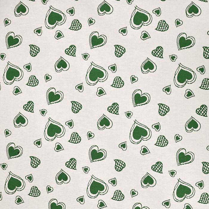 Deko, Jacquard, Herzen, 20215-400, grün