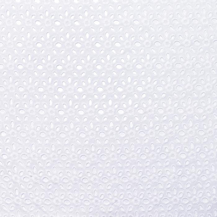 Pamuk, rišelje, cvjetni, 20188-4, bijela
