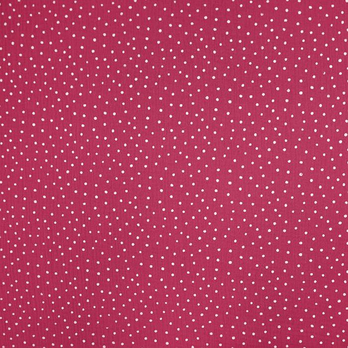 Tetra tkanina, dvostruka, točkice, 19032-021, ciklama