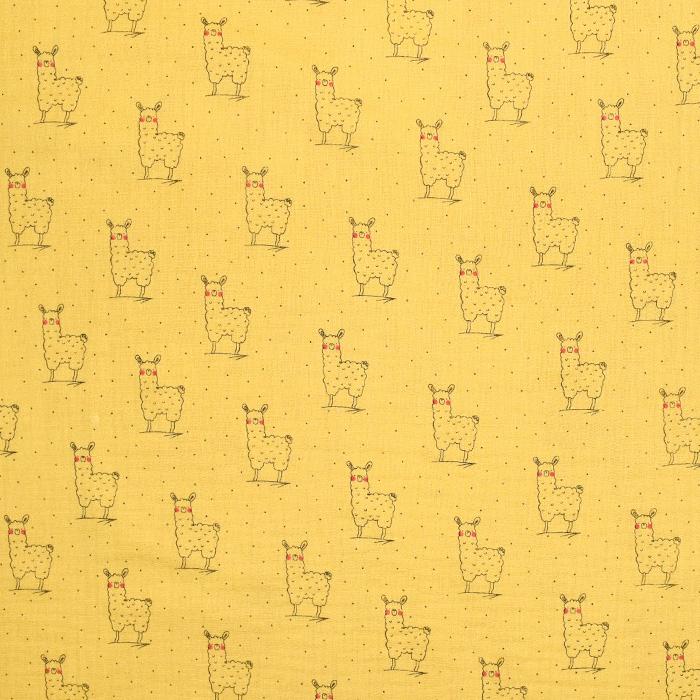 Tetra tkanina, dvojna, živalski, 20388-005, rumena