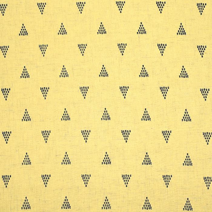 Lan, viskoza, geometrijski, 20390-009, rumena