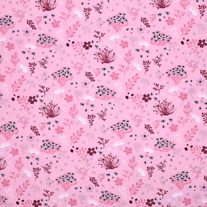 Jersey, bombaž, cvetlični, 20530-012
