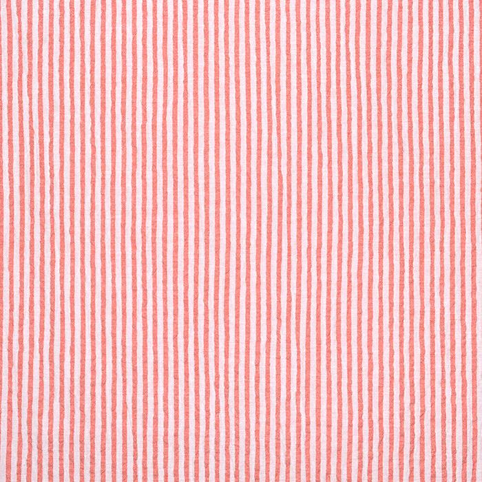 Bombaž, mečkanka, črte, 20533-036, oranžna