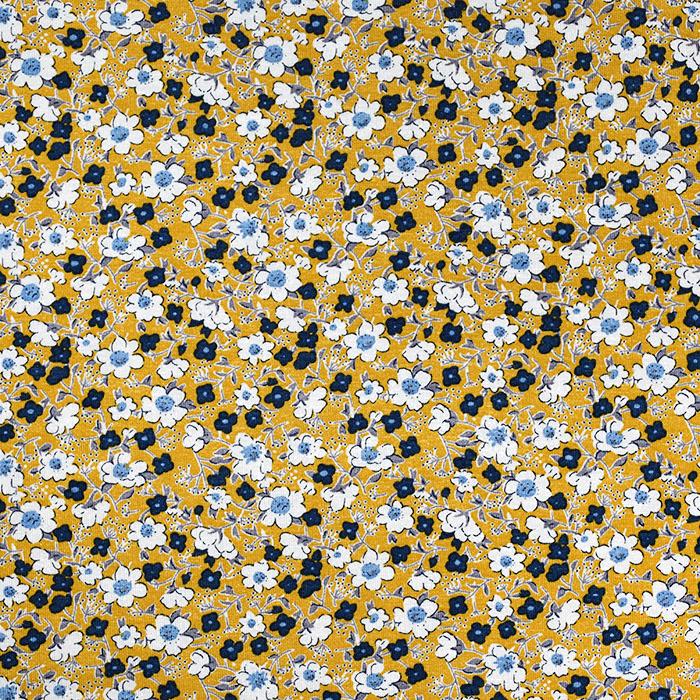Jersey, viskoza, cvjetni, 20538-034, oker