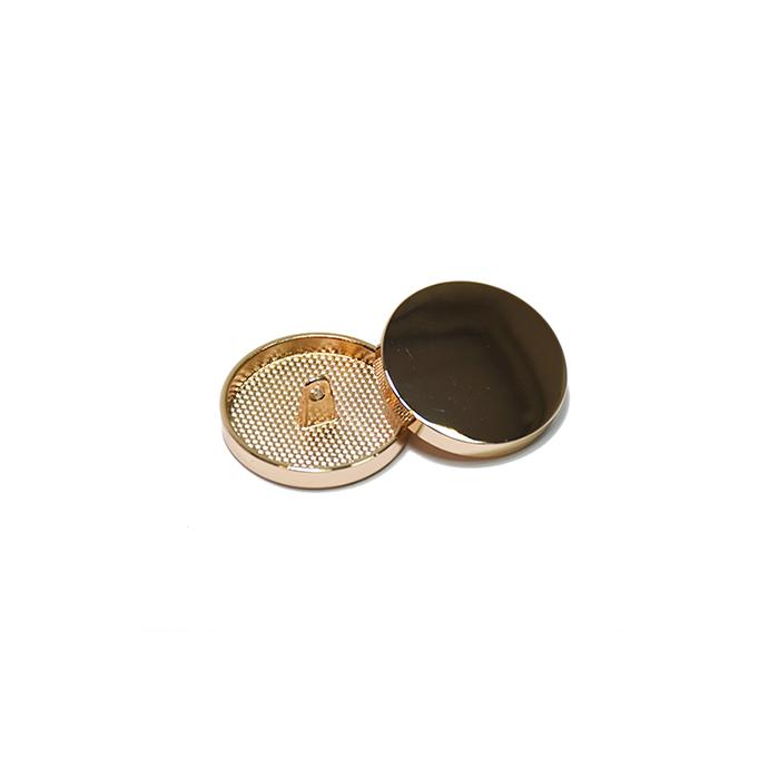 Gumb, kovinski, bombica, 10mm, 20427-100, rožnato zlata