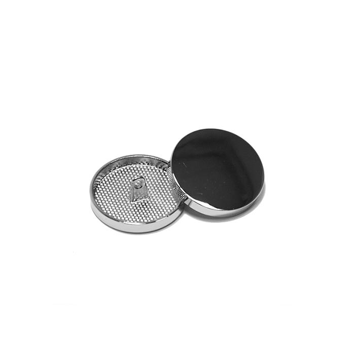 Knopf, metallisch, Bömbchen, 10mm, 20427-101, silbern