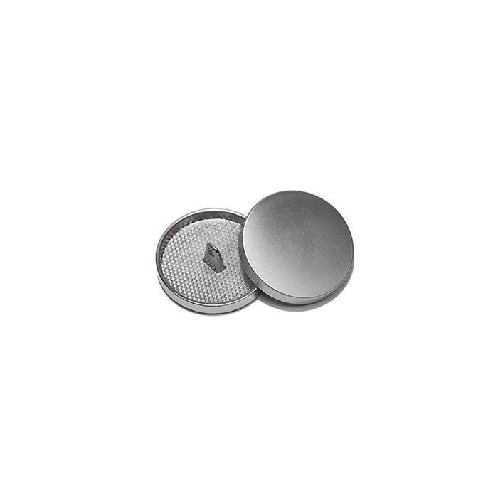 Gumb, kovinski, bombica, 10mm, 20427-110, mat srebrna