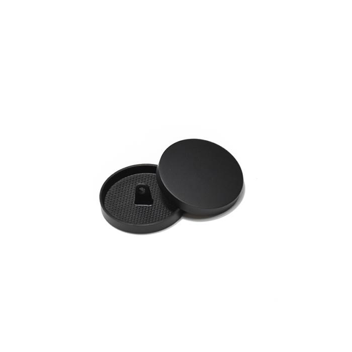 Knopf, metallisch, Bömbchen, 10mm, 20427-130, schwarz matt