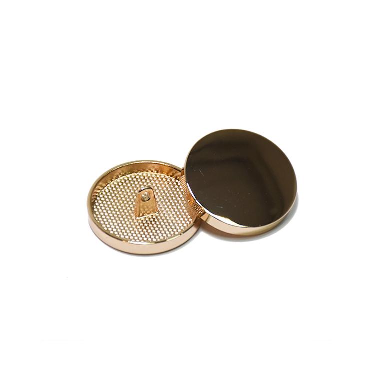 Gumb, kovinski, bombica, 15mm, 20428-100, rožnato zlata