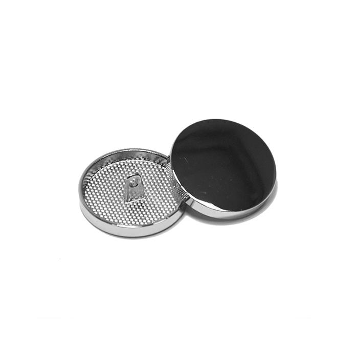 Knopf, metallisch, Bömbchen, 15mm, 20428-101, silbern