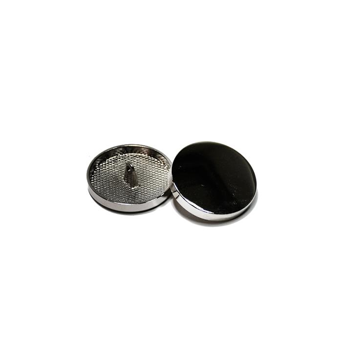 Knopf, metallisch, Bömbchen, 15mm, 20428-105, dunkelsilbern