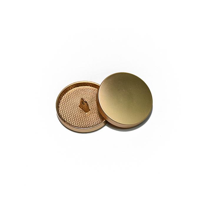 Gumb, kovinski, bombica, 15mm, 20428-109, mat zlata