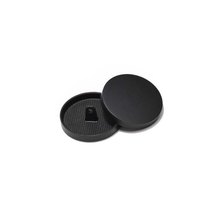Knopf, metallisch, Bömbchen, 15mm, 20428-130, schwarz matt