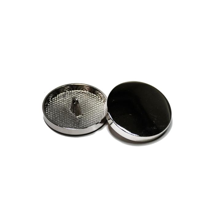 Knopf, metallisch, Bömbchen, 23mm, 20429-105, dunkelsilbern