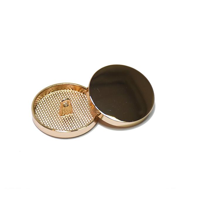 Gumb, kovinski, bombica, 23mm, 20429-100, rožnato zlata