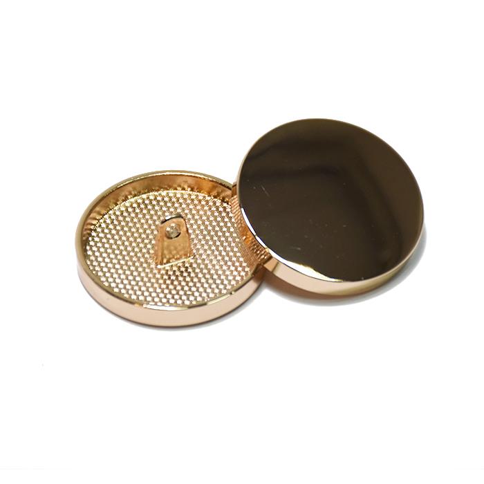 Knopf, metallisch, Bömbchen, 28mm, 20430-100, rosa gold