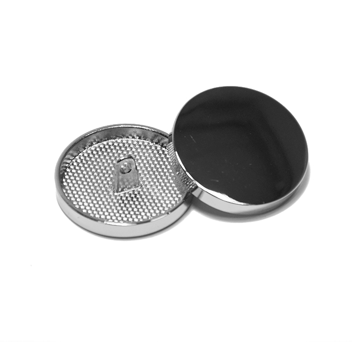 Knopf, metallisch, Bömbchen, 28mm, 20430-101, silbern