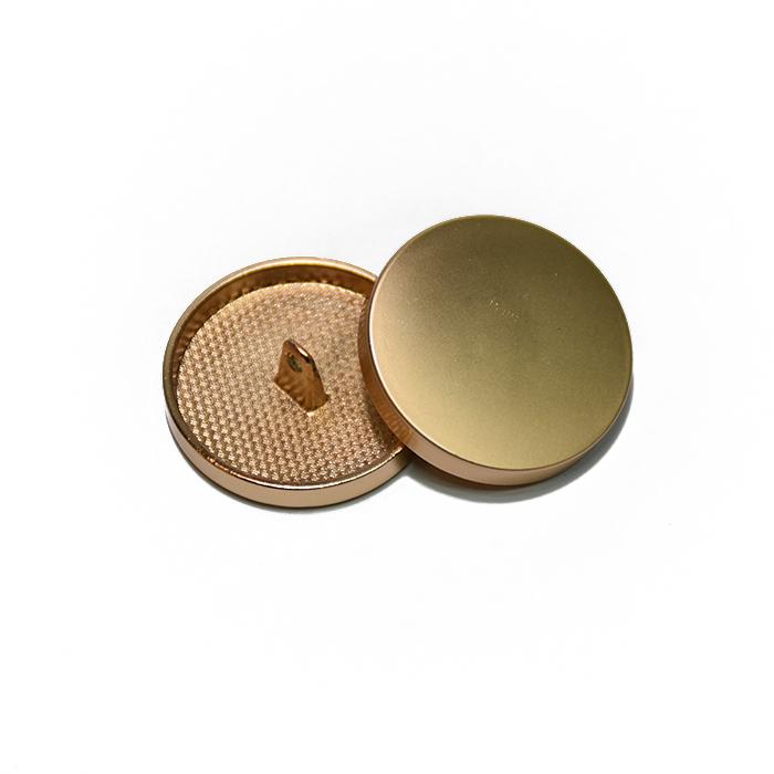 Gumb, kovinski, bombica, 28mm, 20430-109, mat zlata