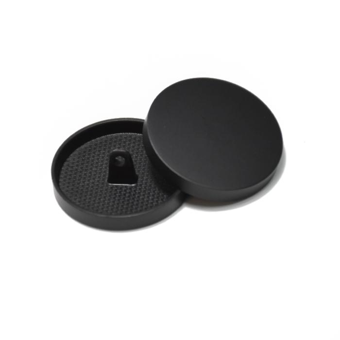Gumb, kovinski, bombica, 28mm, 20430-130, mat črna