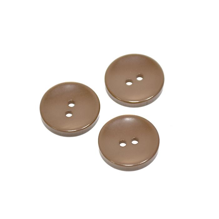 Gumb, klasični, rjava, 15mm, 20450-024