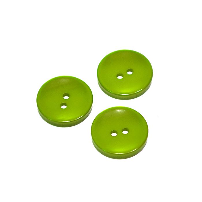 Knopf, klassisch, grün, 15mm, 20450-010
