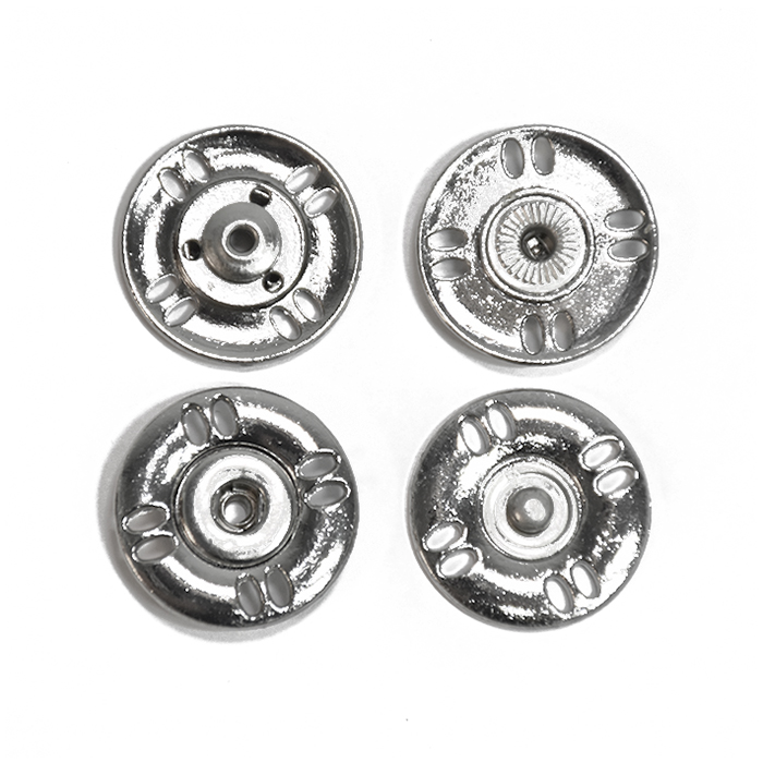 Pritiškači, prišivni, 25mm, 20453-101, srebrna