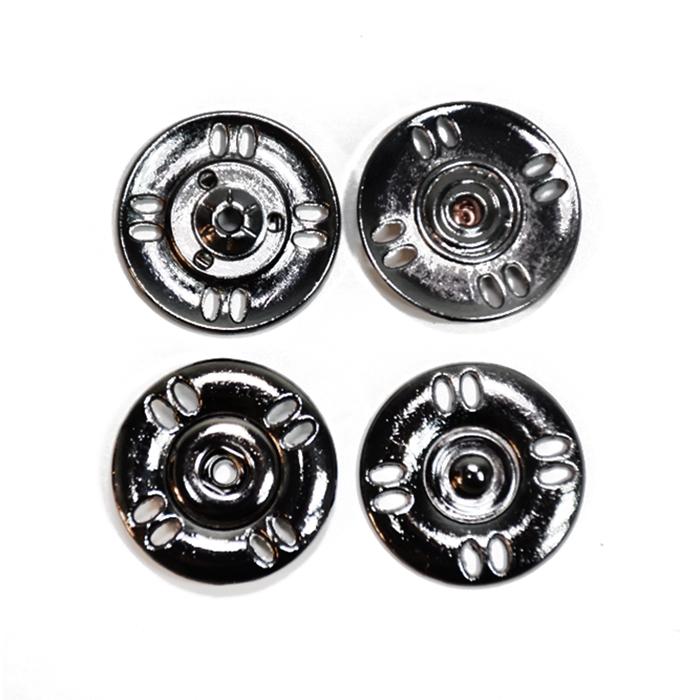 Druckknöpfe, zum Annähen, 25 mm, 20453-105, schwarz