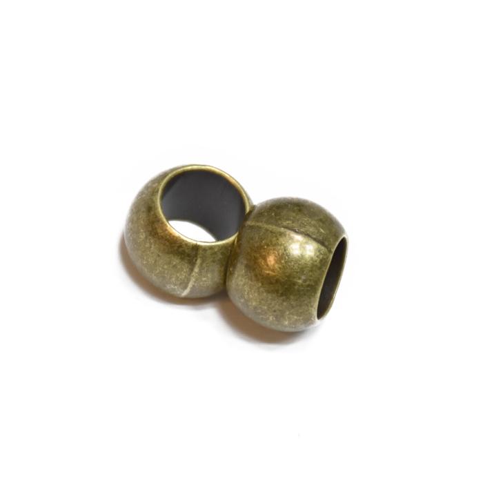 Zaključek za vrvico, kovinski, 10mm, 20457-102, staro zlato