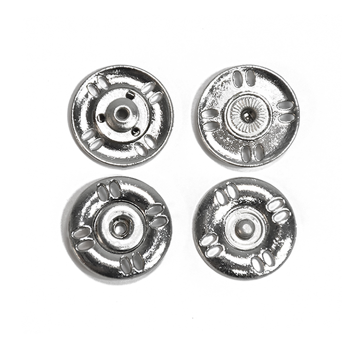 Pritiškači, prišivni, 18mm, 20452-101, srebrna