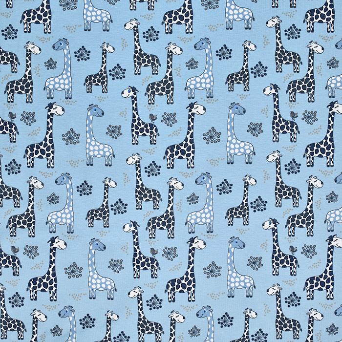 Jersey, Baumwolle, tierisch, 20600-09, blau