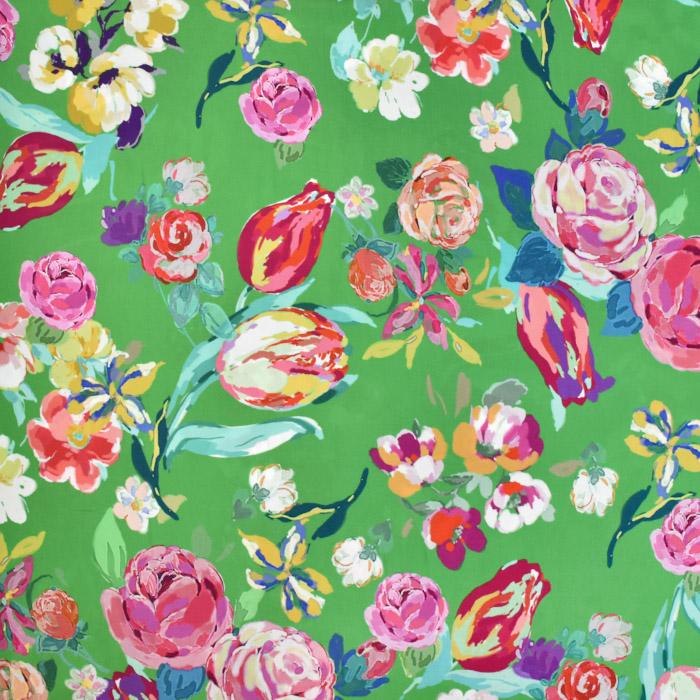 Tkanina, viskoza, cvetlični, 20659