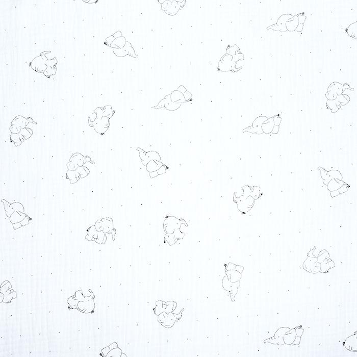 Tetra tkanina, dvojna, živalski, 20675-250, bela