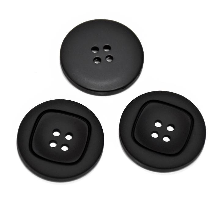 Knopf, für Anzüge, 35 mm, 20467-002, schwarz