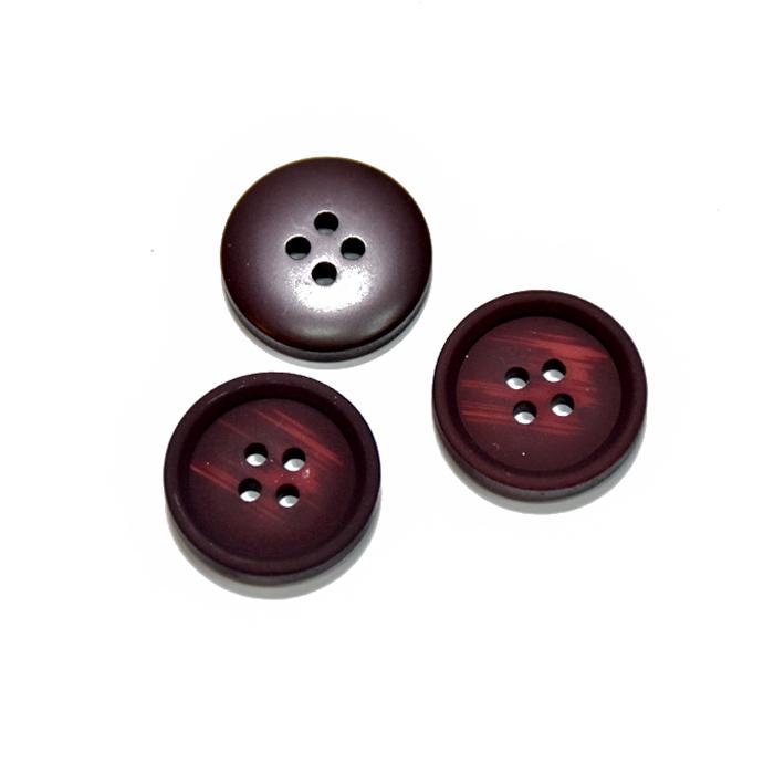 Knopf, für Anzüge, 20 mm, 20471-009, bordeaux