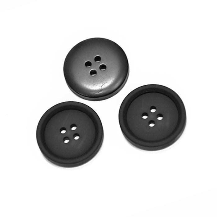Gumb, kostimski, 25mm, 20472-002, črna
