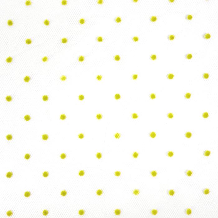 Tüll, weich, Punkte, 20732-3, gelb