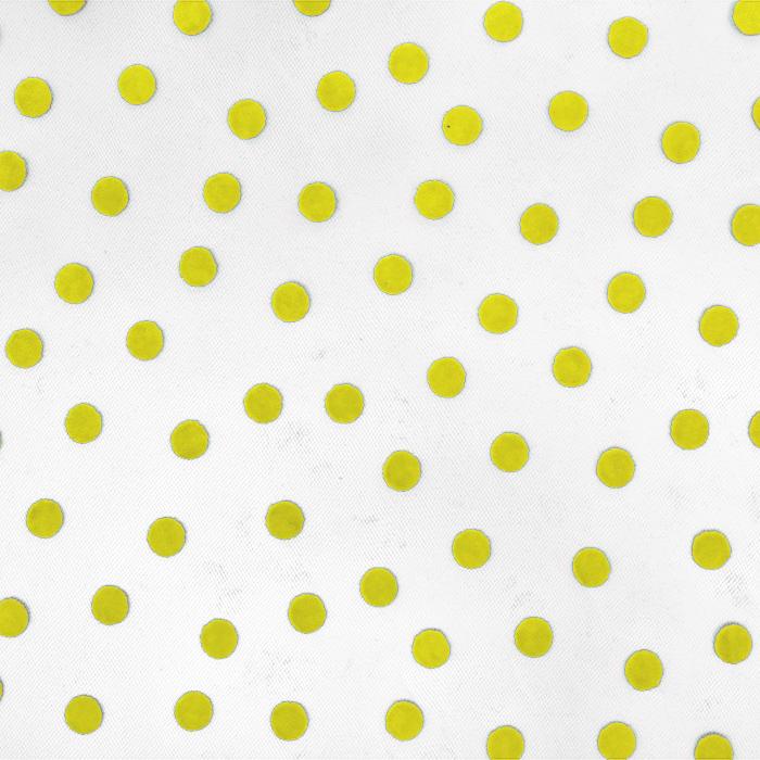 Tüll, weich, Punkte, 20734-2, gelb