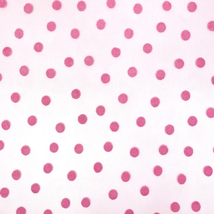 Tüll, weich, Punkte, 20734-7, rosa